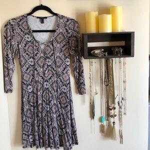 Forever 21 patterned dress